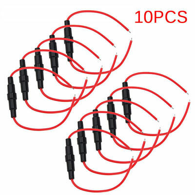 Lot 10PCS 5x20mm AGC Blow Glass Fuse Holder In-line Twist type with 16AWG cable