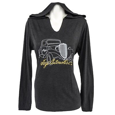JEGS Apparel and Collectibles 18220 Ladies Vintage Car Hoodie Small