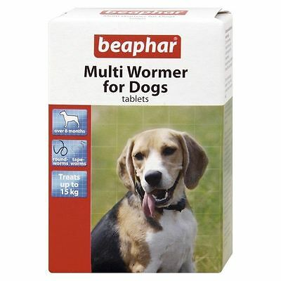 BEAPHAR Worming Tablets For Dogs Multi Wormer 12 Tablets Tape Round