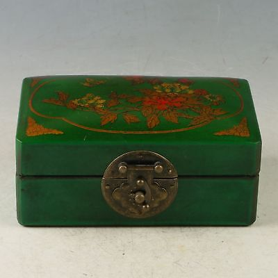 Exquisite Hardwood Hand-painted Flower & Butterfly Jewelry Box CC1360