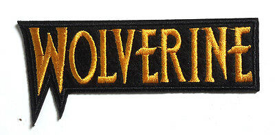 """X-MEN WOLVERINE Logo  4"""" Embroidered Patch- Mailed from USA  (XMPA-11-A)"""