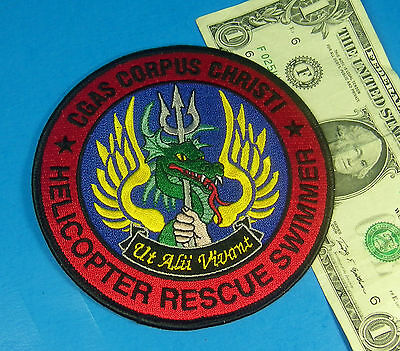 U.S. COAST GUARD PATCH USCG HELICOPTER RESCUE SWIMMER CGAS Corpus Christi #AN