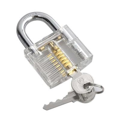 Chic Clear Crystal Transparent Cutaway Padlock Visible View Lock Practice Tools