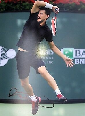 Autograph Dominic Thiem, 20* 27 cm (8*10) (Signed in person)