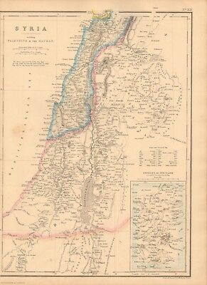 1860  Antique Map - Syria, South Division, Palestine And The Hauran