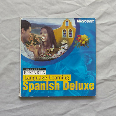 Microsoft Encarta Language Learning Spanish Deluxe Software Complete