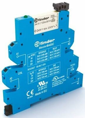Finder 39 Series 12V ac/dc DIN Rail Interface Relay Module, SPDT, Push In