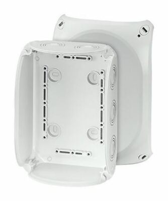 Polycarbonate IP66/67 Junction Box Knock Out, 180 x 130 x 77mm, Grey