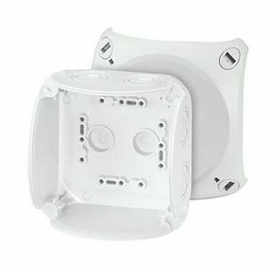 Polycarbonate IP66/67 Junction Box Knock Out, 104 x 104 x 70mm, Grey