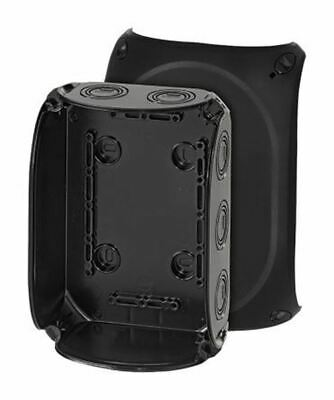 Polycarbonate IP66/67 Junction Box Knock Out, 180 x 130 x 77mm, Black