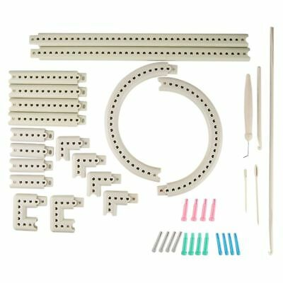 Multi-function Craft Yarn 5000-100 Knitting Board Knit Weave Loom Kit DIY B5F3