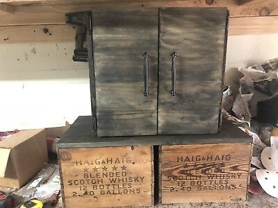 antique haig and haig boxed made into liquor cabinet