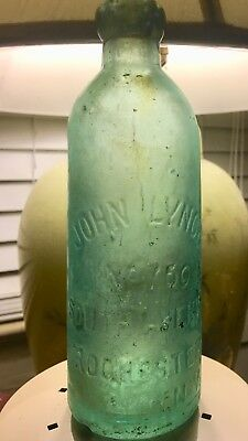 John Lynch No 750 South Avenue Rochester NY Hutch Bottle. Error Only One Known!