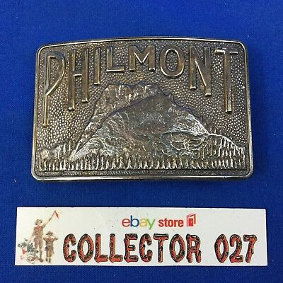 Boy Scout Silver Philmont Scout Ranch Belt Buckle Tooth Of Time