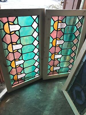 SG 25552 available price separate antique Beveled and stain glass window