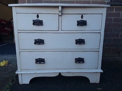 Antique Victorian Painted Pine Chest Of Drawers