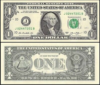 UNITED STATES One Dollar ($1), 2013, Series C, UNC Banknote, GEM US Currency,