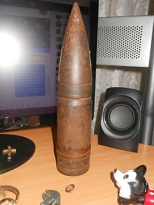 Vintage Military Shell Dummy Inert Round Projectile 7lbs Artillery Shell 10 1/2""