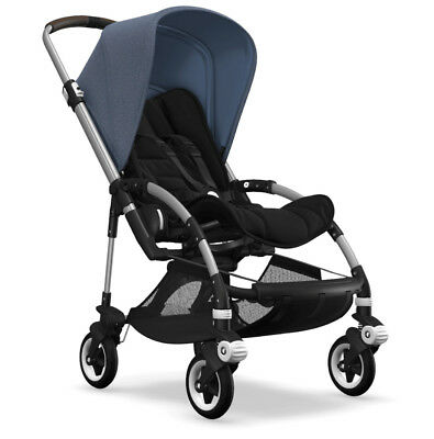 Bugaboo Bee 5 New Blue Melange Black Stroller Pushchair Buggy Pram Genuine Boxed