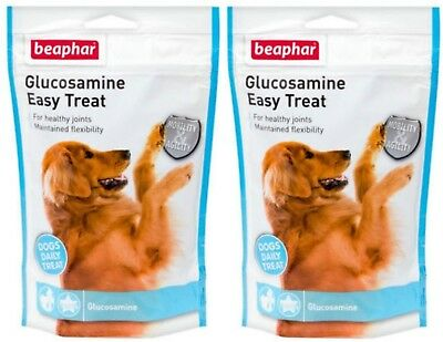 2 X 150G Beaphar Glucosamine Treat Adult Senior Dog Joint Bone Care Supplement