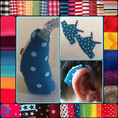 4 decorative Fabric Jackets (choose colour) for some small Phonak hearing aids