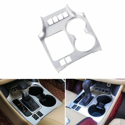 1pcs Front Water Cup Holder Cover Trim For Toyota Highlander Kluger 2014-2016