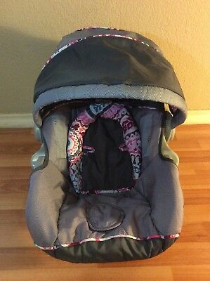 Baby Trend Ez Loc Infant Car Seat Cover Cushion Canopy Set Part Gray Pink Silver