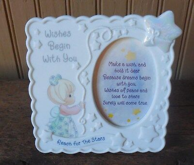Precious Moments Photo Frame Wishes Begin With You Reach for the Stars 1998
