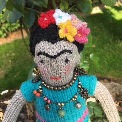 Knitting Pattern Frida Kahlo Doll Toy Knitted Knit Gift Knit Instructions Softie