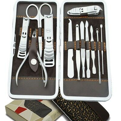 Travel Nail Groom Tool Cutter Cuticle Clipper Manicure Pedicure Set XMAS Gift