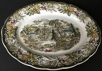 Ridgway Heritage Early Canada Scene Among The Thousand Isles 12 Inch Platter