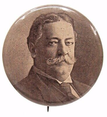 "TAFT looking to the side Portrait president 1.25"" pinback button w/back paper +"