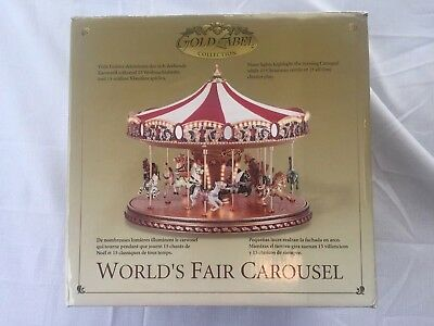 Mr. Christmas 2003 Worlds Fair Carousel Gold Label Collection