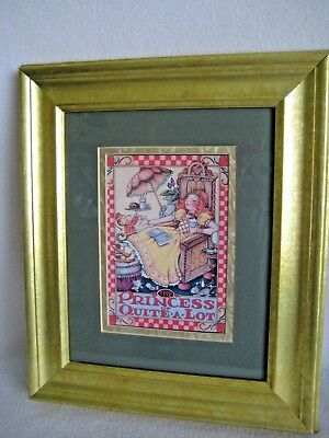 """Mary Engelbreit """"The Princess Of Quite A Lot"""" Print Framed And Matted 10"""" x 13"""""""
