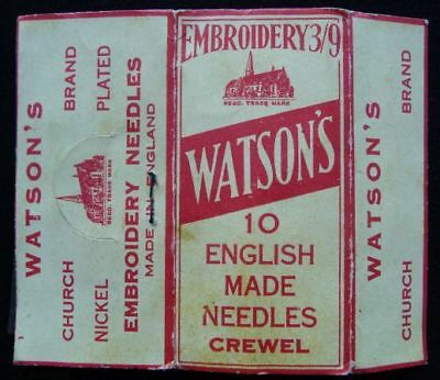 WATSON´S Embroidery Needles - Nadelheft, made in England