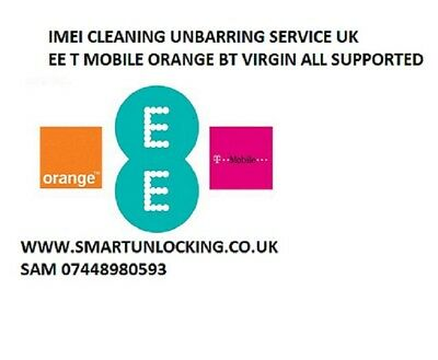EE ORANGE T MOBILE UK UNBARRING SERVICE all IMEI all mobiles supported