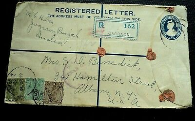 Registered Letter: Jagron, India To Albany, N.y. 1932