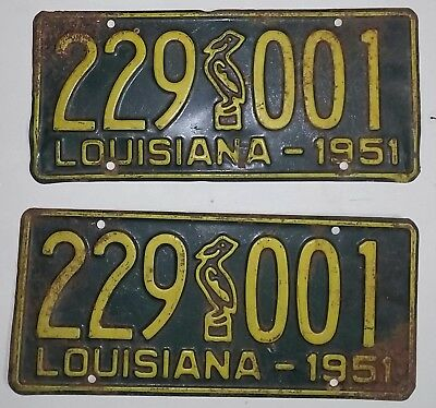 1951 Louisiana license plates
