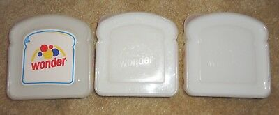 3 Vintage Wonder Bread Sandwich Containers
