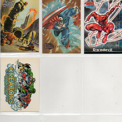 Marvel Comics - Silver Age - Creators 98 - Lot of 4 Different Promo Cards