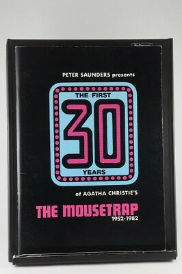 Vintage Program Peter Saunders First 30 Years Agatha Christie's The Mousetrap