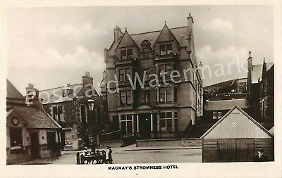 Orkney Mackay'S Stromness Hotel Real Photo Local Publisher Clouston