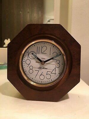 Seth Thomas Small Wooden Desk Clock by Talley Tanglewood Working - Rare