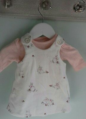 Baby Girls Pretty Floral Bunny Dress Outfit By Mothercare Size Newborn