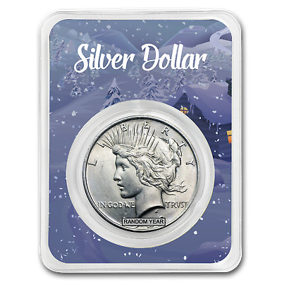 1922-1925 Peace Silver Dollar Winter Scene BU (Random Year) - SKU#176751