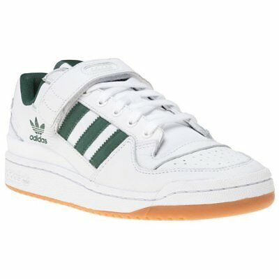 New Mens adidas White Forum Low Top Leather Trainers Retro Lace Up