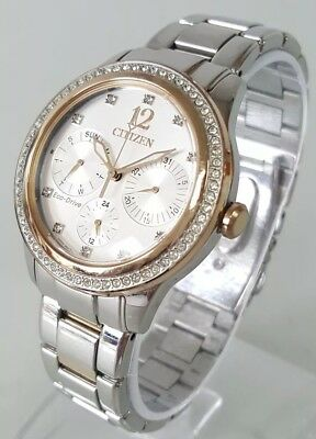 Citizen Eco-Drive FD2018-56A Women's 37mm Two-Tone Crystal Accent S/Steel Watch