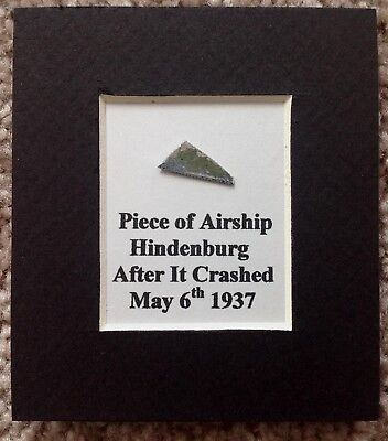Small Authentic Hindenburg Piece Of Metal Cut From Girder Removed From Airship