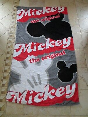 "Walt Disney The Original Mickey Mouse Beach Towel 38"" x 68"" NEW"