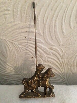 Antique Dutch Clock, Brass Pendulum (Horse And Rider)